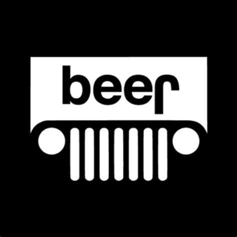 jeep beer decal upside down jeep vinyl decal superior quality and longer
