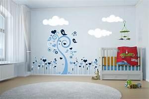 Ds401 sticker frise coeurs et oiseaux deco vitres for Chambre bébé design avec legging à fleurs