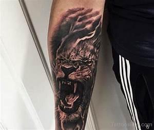 Roaring Lion Tattoo Forearm