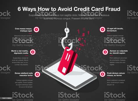 Maybe you would like to learn more about one of these? Simple Vector Infographic For 6 Ways How To Avoid Credit Card Fraud Template Isolated On Dark ...