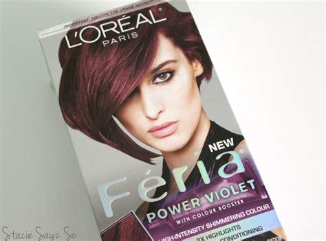 L'oreal Feria Power Violet Hair Color