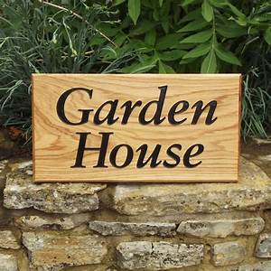 Personalised, Oak, House, Sign, By, England, Signs