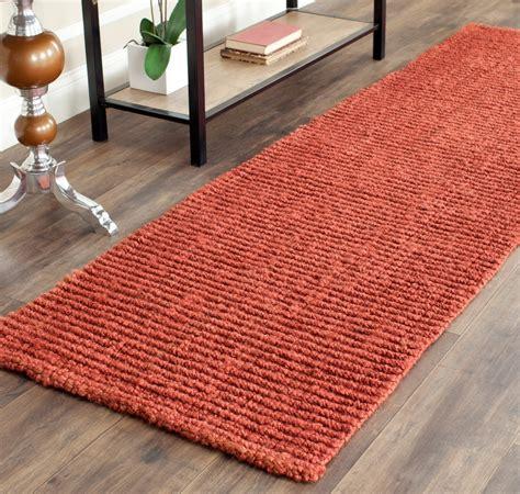 Safavieh Runner Rugs by Safavieh Fiber Jute Rust Area Rugs Nf447c Ebay