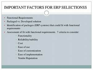 Erp enterprise resource planning for Erp functional requirements document