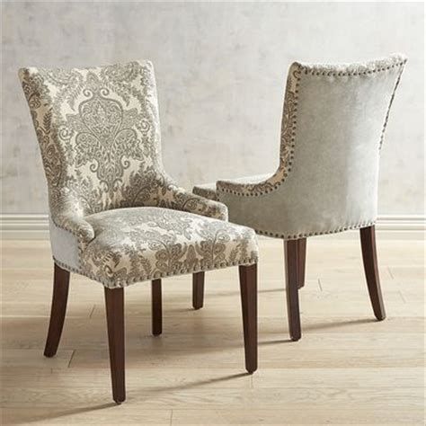 pier one chairs dining adelle dining chair blue damask pier 1 imports