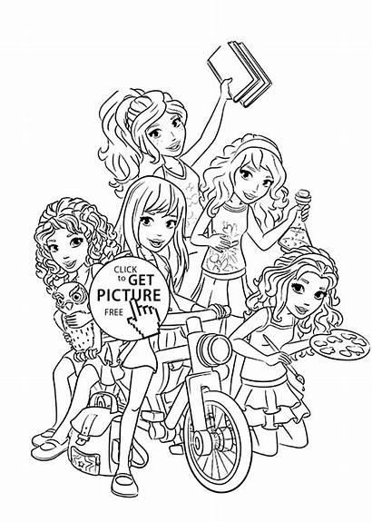 Lego Coloring Friends Printable Pages