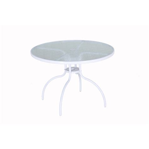 white round outdoor table shop garden treasures pagosa springs 40 in w x 40 in l