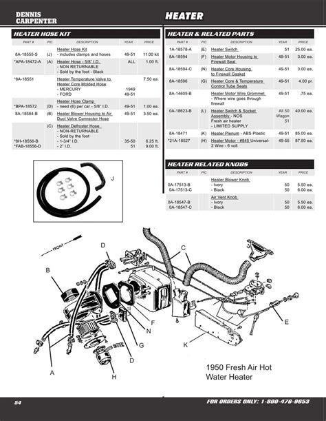 Wiring Diagram 1951 F1 Ford Truck by 1948 1950 Ford Truck Herter Wiring Diagram