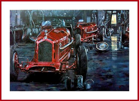 Poster Kunstdruck Alfa Romeo Monza Garage Der Scuderia