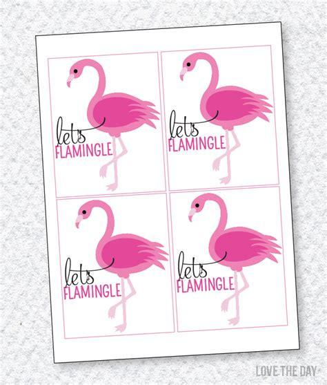 printable flamingo party favors  printables