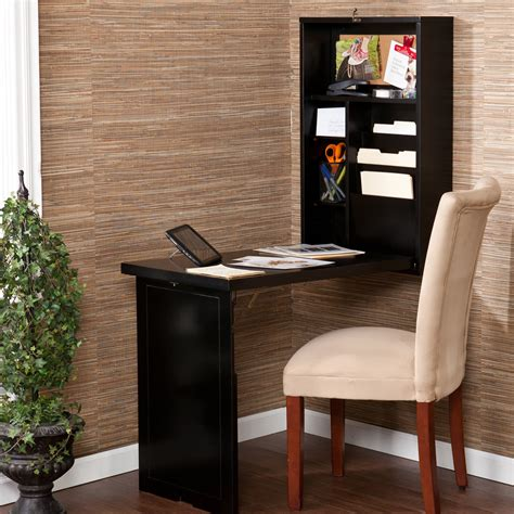 fold out desk southern enterprises wall mounted fold out convertible