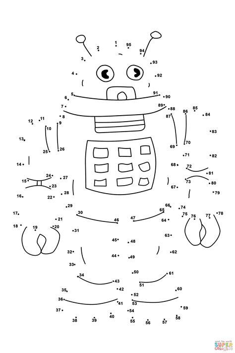 robot dot  dot  printable coloring pages