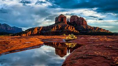 Sedona Arizona Desert Mountain Nature Sky Rock