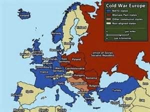 NATO and Warsaw Pact Cold War Map