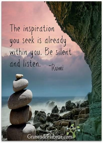 Quotes Rumi Inspirational Inspiration Gratitude Quote Silent