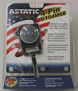 Retail Package Astatic D104 M6b Cb Ham Radio Amplified