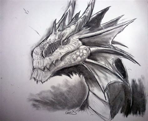 charcoal art maugryph