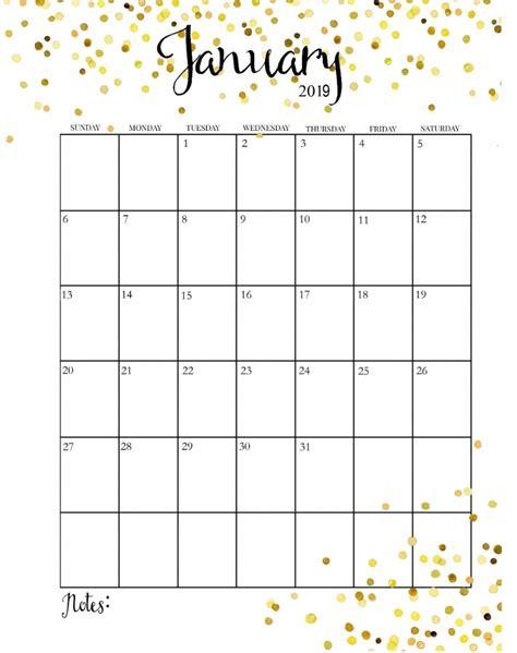 pretty january  calendar  calendar printable