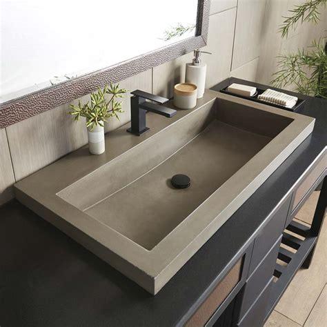 trough    concrete trough bathroom sink