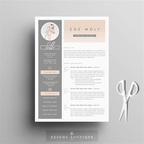 Creative Resume Themes by 25 Best Ideas About Fashion Resume On