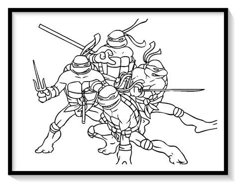 dibujos para colorear tortugas ninja para imprimir