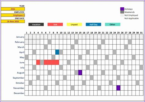 excel annual leave template exceltemplates