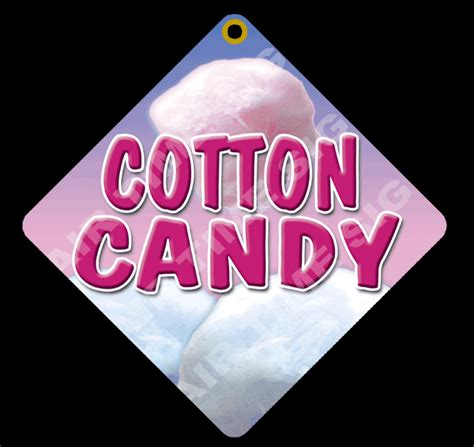 cotton candy  diamond concession sign trailer stand