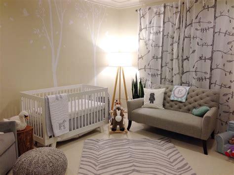 neutral baby safari themed nursery