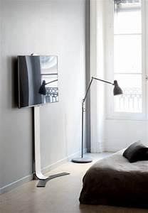 Fernseher An Die Wand Hängen Ohne Halterung : erard standit 600 bohrlose flache tv wandhalterung ~ Michelbontemps.com Haus und Dekorationen