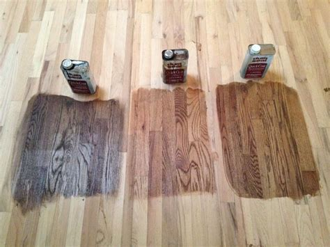 Minwax stains from left to right: Antique Brown, Early