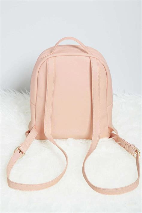 lyst   faux leather mini backpack  pink