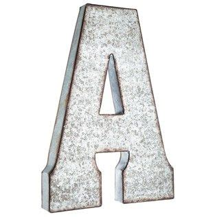 large galvanized metal letter  shop hobby lobby metal wall letters letter wall decor