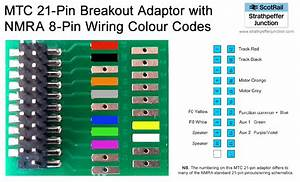 21-pin Mtc To 8-pin Dcc Plug Adaptor Pin-out  U0026 Wiring Diagram - Strathpeffer Junction