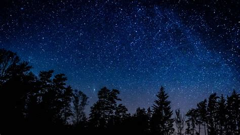Starry Night Sky Timelapse Stock Footage Video