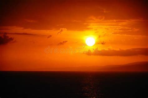 sun rise  jamaica coast stock image image