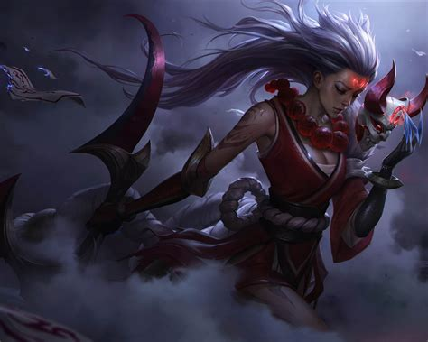 league  legends blood moon diana splash video game hd
