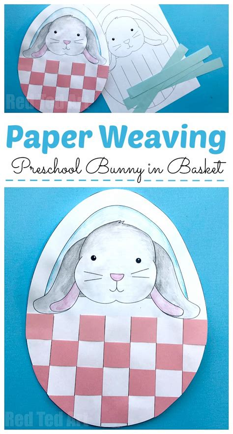 bunny basket weaving  preschool red ted art