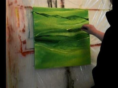 abstrakte acrylmalerei  gruen abstract acrylic painting
