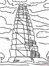 Babel Tower Coloring Printable Pages Bible Activities Crafts Sunday Tour Craft Lessons Worksheet Brick Wall Sheet Activity Drawing Clipart Sheets sketch template