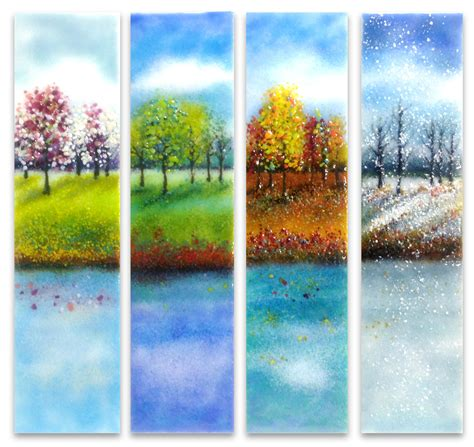four seasons glass wall by nye glass wall sculpture artful home