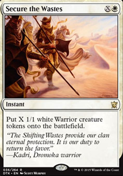 green white token deck tapped out secure the wastes dtk mtg card