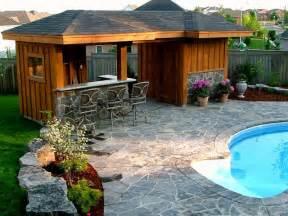 Cabana Style Bedroom by Pool Cabana And Bar Area Traditional Pool Toronto
