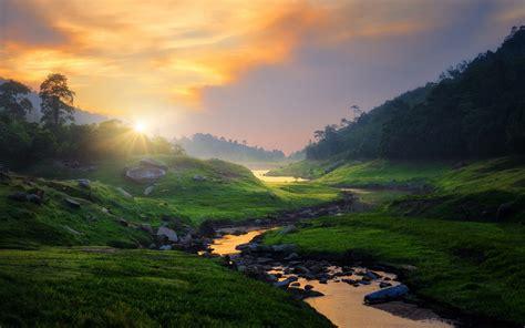 nature, Landscape, Photography, River, Grass, Sunset ...