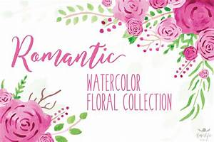 Romantic Watercolor Floral Collection Amistyle Digital Art