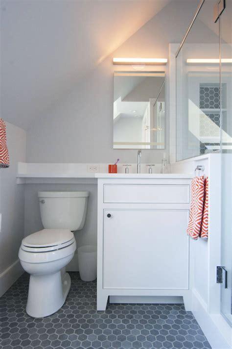 gray  orange bathrooms contemporary bathroom