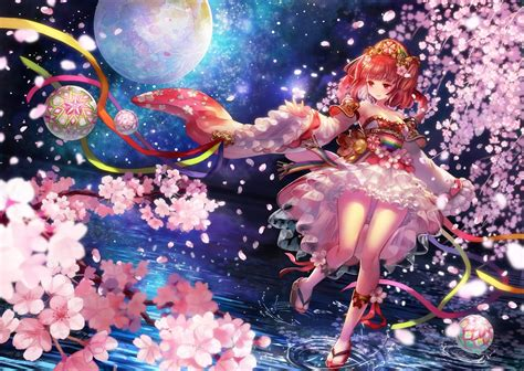 1024x768 Wallpaper Anime - original characters anime anime cherry blossom