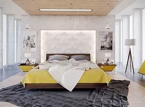 idee chambre adulte amenagement et decoration design With amenagement chambre a coucher