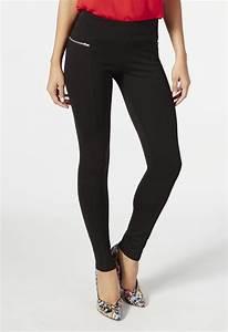 Zipper Pocket Legging in Black - Get great deals at JustFab