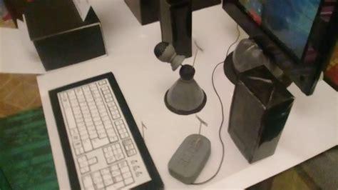 maqueta de computadora y accesorios reciclable youtube