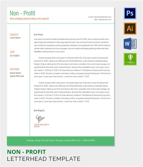 sample company letterhead template    psd